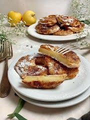 """Argolas de maçã """"fritas"""" (saudável; sem fritar)"""