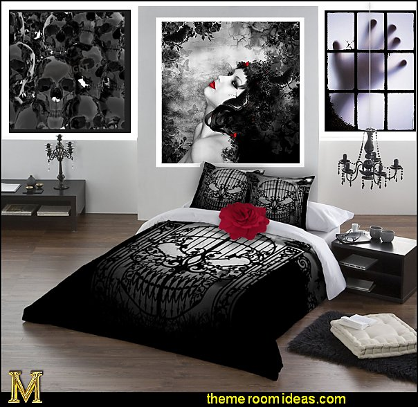 gothic bedding gothic wall posters gothic wall decorations gothic themed bedrooms