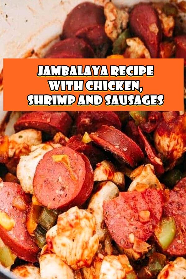 #Jambalaya #Recipe #with #Chicken #Shrimp #and #Sausages