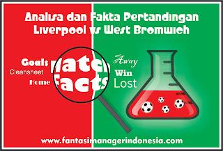 Analisa dan Fakta Menjelang Pertandingan Liverpool vs West Bromwich Albion Fantasi Manager Indonesia