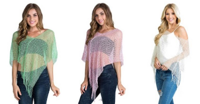 AMAZON - 75% Off Bolero Shrugs Knitted Viscose Sheer
