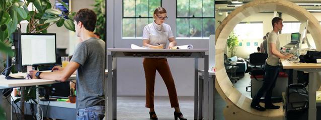 Năng lượng tích cực được tạo ra khi sử dụng bàn làm việc đứng