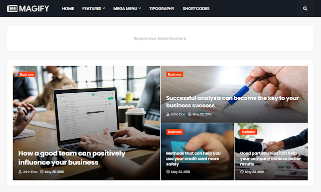 Simple ads ready responsive blogger theme | best blogger themplate