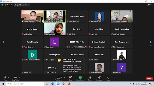 Workshop Digital Marketing Teori dan Praktik