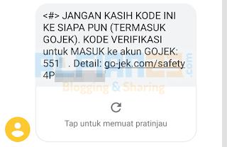 Contoh OTP dari Gojek
