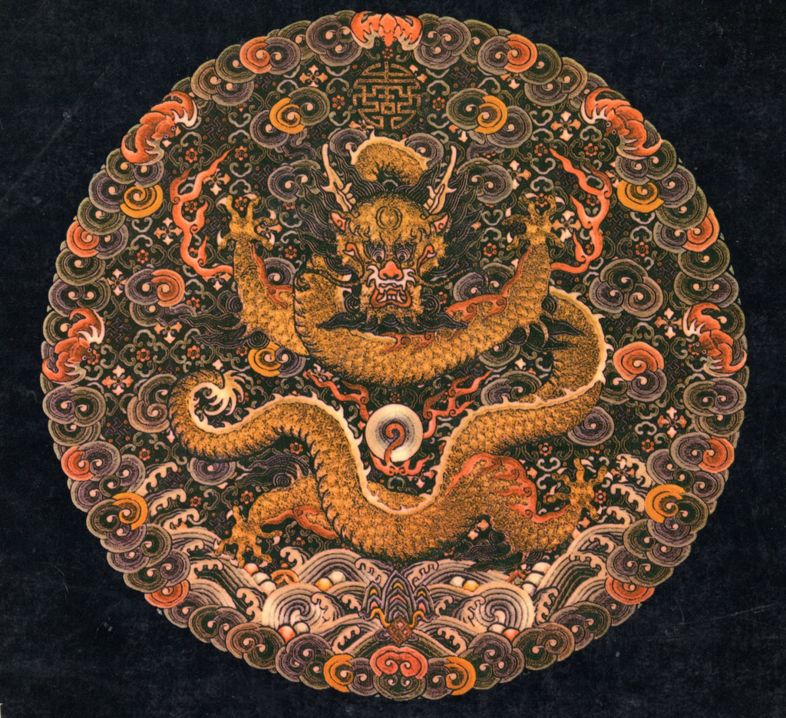 Folkcostumeembroidery dragon robes of the qing dynasty in the west dragons are considered to be aggressive creatures that den in the earth and breathe fire in china and the orient however buycottarizona Choice Image
