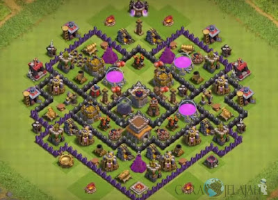 Base Hybrid TH 8 Clash Of Clans Terbaru Tipe 27