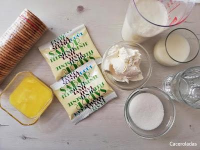 ingredientes para tarta de limón sin horno casera