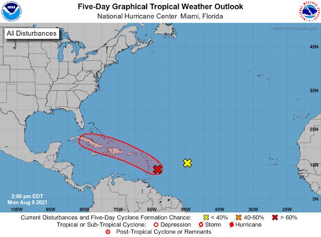 Probable depresión en el Atlántico tropical