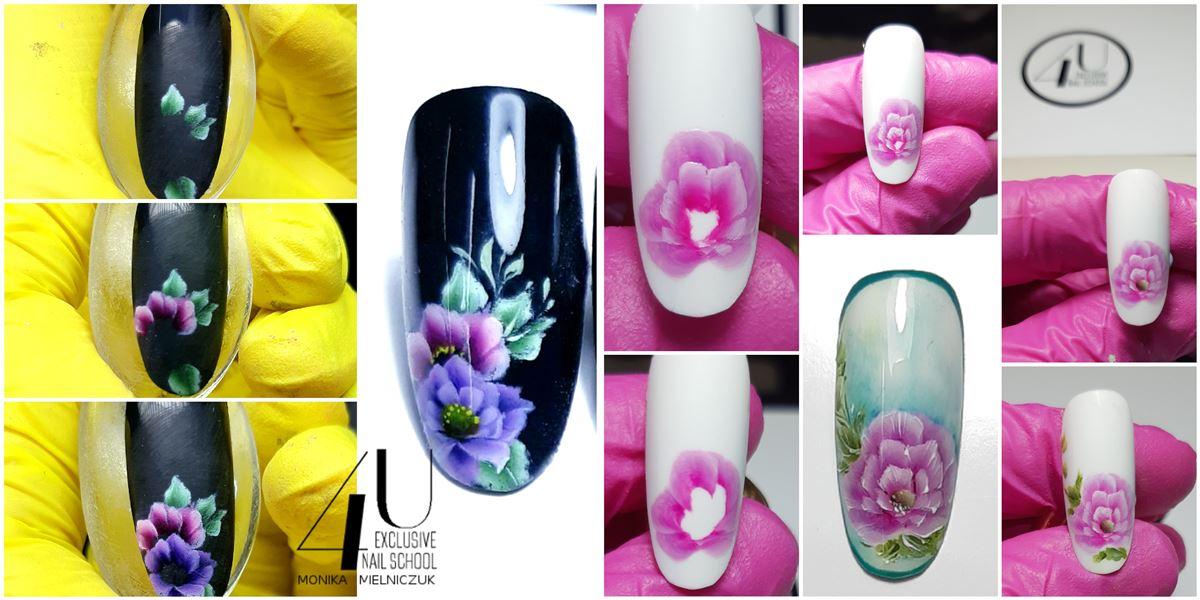 kwiatki na paznokciach krok po kroku