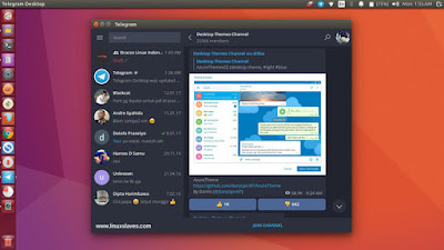 Telegram Custom Themes Dark Ubuntu