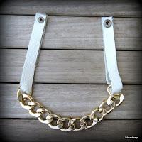 LoveLea's glam leather pool wear necklace