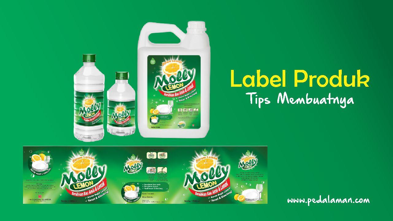 membuat label produk