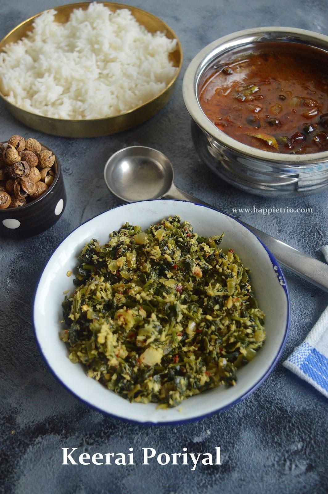 Arai Keerai Poriyal | Greens Stir Fry