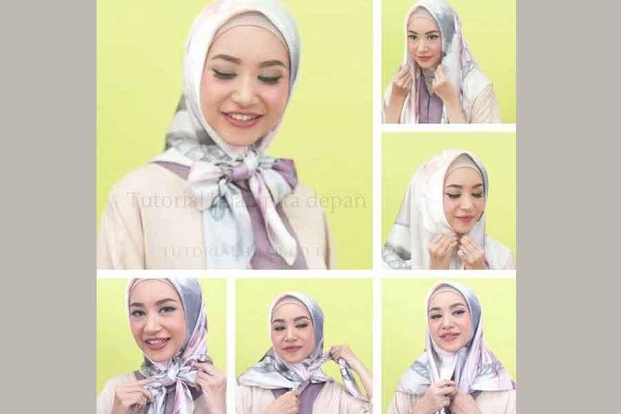 Tutorial Cara Memakai Hijab tali Pita