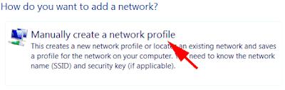 add network ssid profile