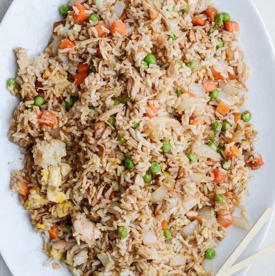 BETTER-THAN-TAKEOUT CHICKEN FRIED RICE #Dinner #QuickRecipe