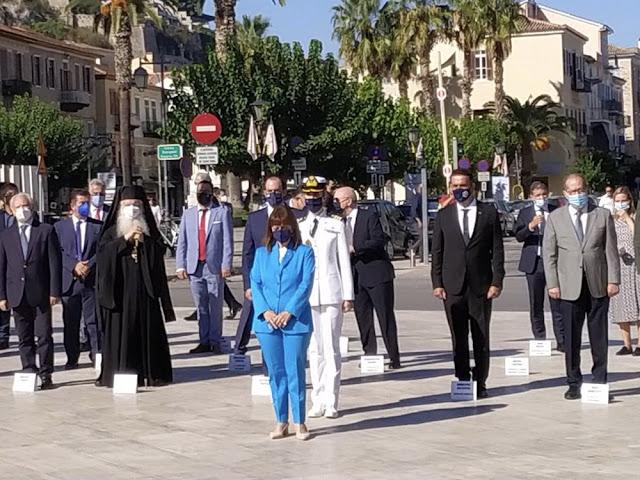 Στο Ναύπλιο για τον Ι. Καποδίστρια ο Περιφερειάρχης Πελοποννήσου παρουσία της Προέδρου της Δημοκρατίας