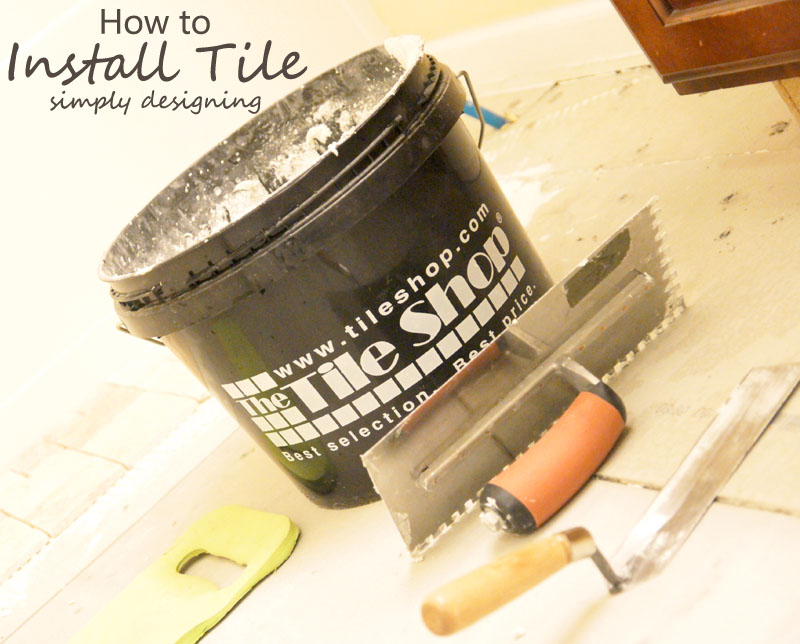 Install Travertine Tile | a complete tutorial for how to demo, prep, install concrete backer board and install tile | #diy #bathroom #tile #thetileshop @thetileshop