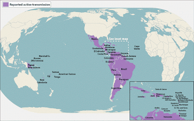 Zika Virus Areas Map