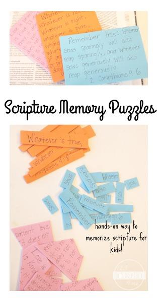 Scripture Memory Puzzles