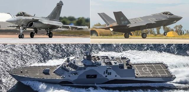 «Θωράκιση» με Rafale και F-35-Προβληματισμός για τις αμερικανικές φρεγάτες