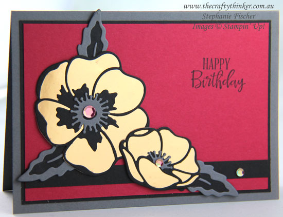#thecraftythinker  #stampinup  #cardmaking  #poppymoments #simplecard , Poppy Moments Dies, Simple Card, Stampin' Up Demonstrator, Stephanie Fischer, Sydney NSW