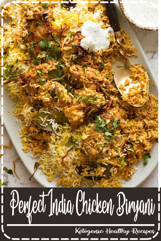 Ingredients of Chicken Biryani  600 gm basmati rice 4 tablespoon mint leaves salt as required 2 teaspoon coriander powder 1 tablespoon garlic paste 2 tablespoon tomato puree 400 gm white onion 8 green cardamom 1 tablespoon milk 1 kilograms chicken thighs 1 teaspoon garam masala powder 2 pinches saffron 1 tablespoon ginger paste 4 green chilli 300 gm tomato 2 teaspoon cumin seeds 6 tablespoon refined oil For Marination 1/2 teaspoon chilli powder 6 tablespoon plain greek yogurt 1 teaspoon powdered turmeric How to make Chicken Biryani  Step 1- Marinate the chicken for 20-30 minutes To prepare this mouth-watering biryani recipe, you have to marinate the chicken. For the same, take a large bowl and add Greek yoghurt in it along with turmeric, chili powder along with salt as per your taste in a small bowl. Mix well using a spoon and then, add the chicken thighs in the mixture and rub with this mixture. Keep aside for about 20-30 minutes, so that the yogurt mixture is properly absorbed by the chicken. Also, soak saffron in the milk to make saffron milk and keep aside.  Step 2- Saute onions and tomatoes for 2-3 minutes In the meanwhile, pour refined oil in a deep-bottomed pan, keeping it on medium flame. Add cumin seeds and green cardamom in it and saute for about 2 minutes. Once done, immediately add the sliced onion and fry for 2-3 minutes straight. Make sure you don't burn it, so when the onion starts to get brown in color, add tomatoes and tomato puree and fry for another 5 minutes.  Step 3- Add the marinated chicken to the mixture Next, add the slit green chilies to the mixture along with ginger-garlic paste, frying the mixture yet again for a minute. Then, add coriander powder and turn the flame to medium-low while stirring and cooking the masala. Quickly, add the marinated chicken and mix for a while so that the ingredients absorb the juices properly.  Step 4- Cook on low heat for 5-6 minutes Turn the flame to medium again and heat-through for about 5-6 minutes only 