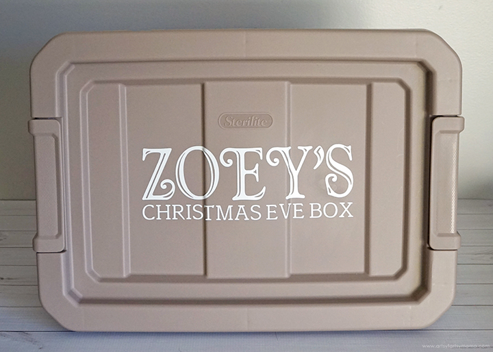 Personalized Christmas Eve Box Lid with Vinyl