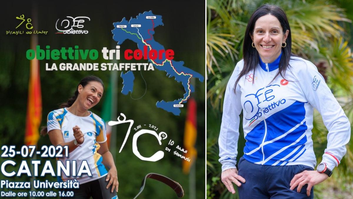 Obiettivo Tricolore Francesca Caruso atleta paraciclistica catanese Giusy Versace piazza Università
