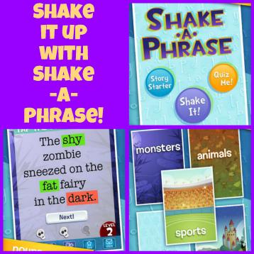 The Book Chook: Children's iPad App, Shake-a-Phrase