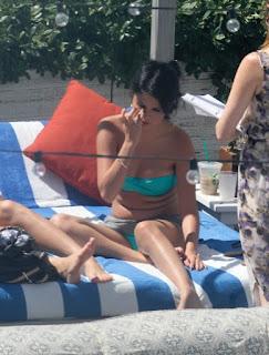 Selena Gomez Blue Bikini