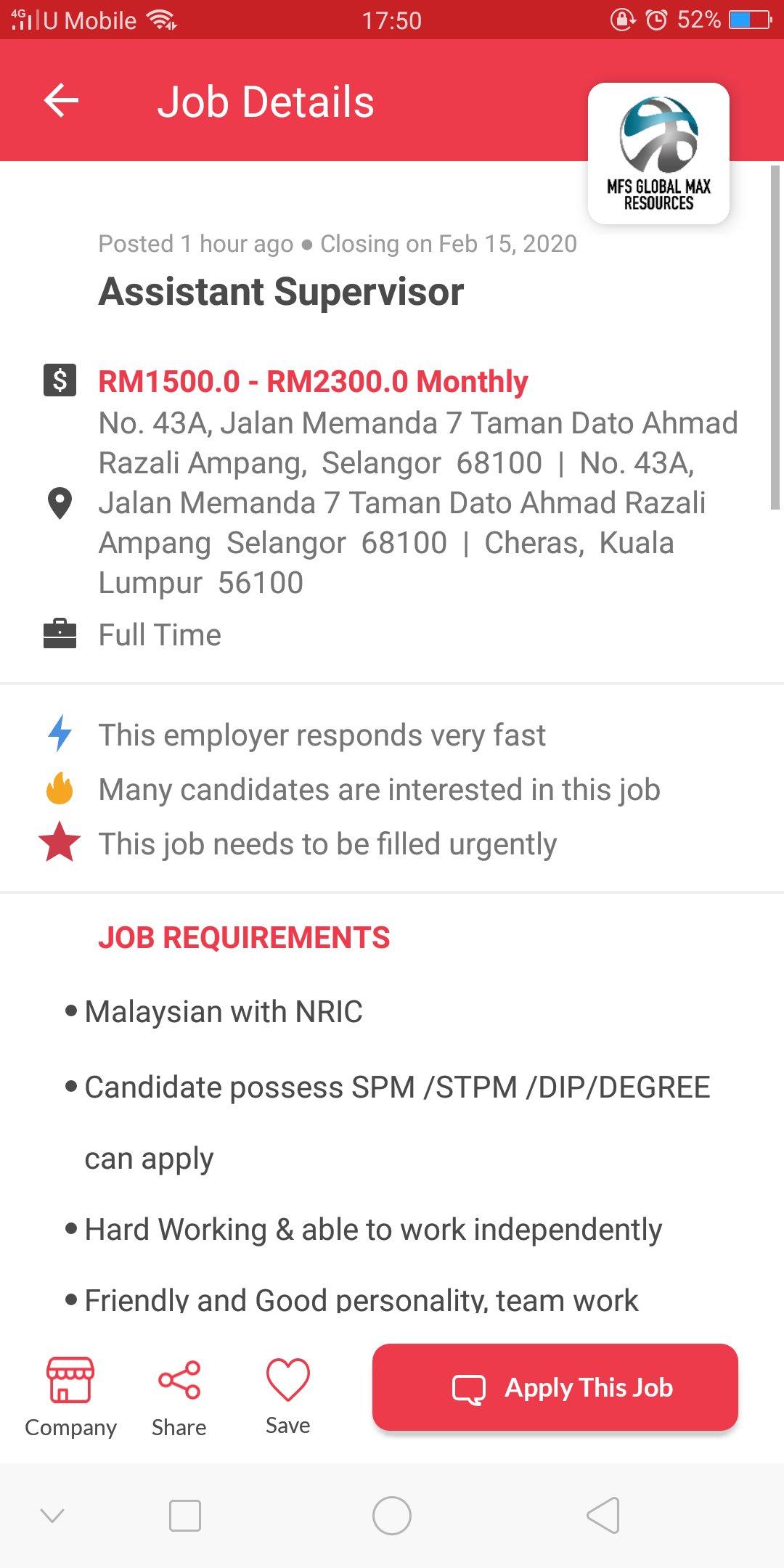 scammer company scam job vacancy temuduga kerja
