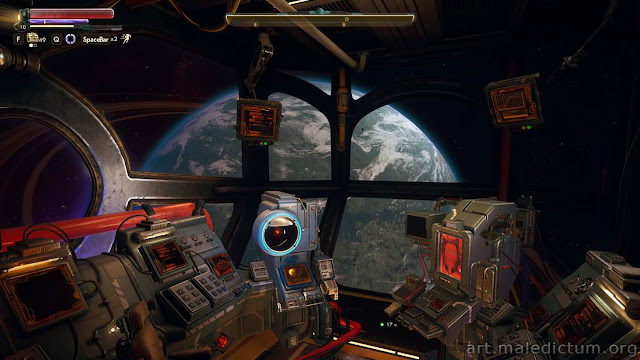 The Outer Worlds - обзор планеты из рубки звездолета