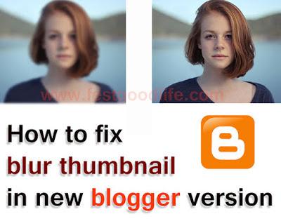 blur thumbnail issue