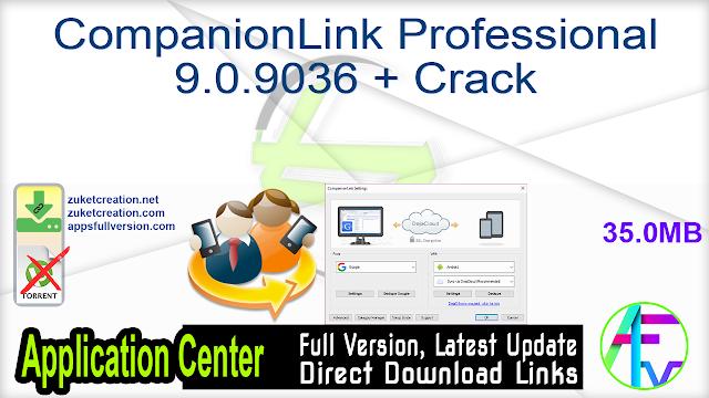 CompanionLink Professional 9.0.9036 + Crack
