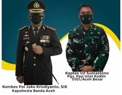 Kapolresta Banda Aceh Bersama Pasi Intel Kodim 0101 Aceh Besar Zoom Meeting Dengan RRI Banda Aceh