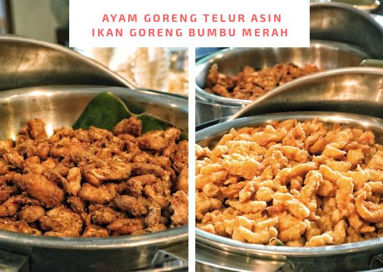 Menu Ayam dan Ikan Goren di Hotel Cakra Kusuma Yogyakarta
