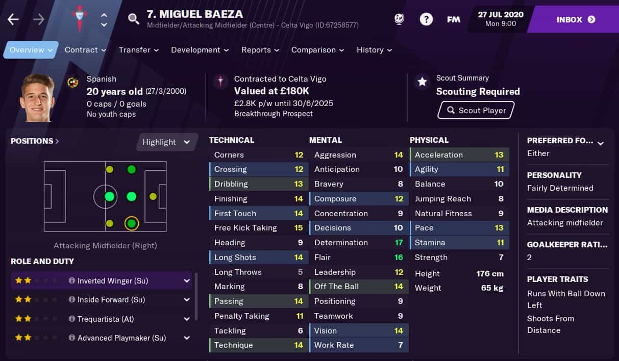 Miguel Baeza Football Manager 2021