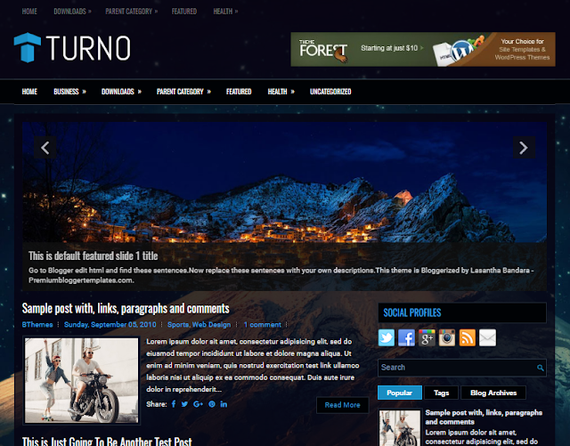 Turno Blogger Template