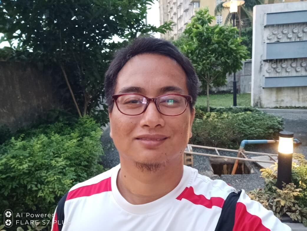 Cherry Mobile Flare S7 Plus Front Camera Sample - Selfie without Face Beauty