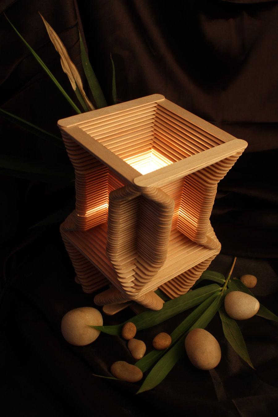 35 Inspirasi Terpopuler Kerajinan Stik Es Krim Lampu Hias Kerajinan stik es krim lampu