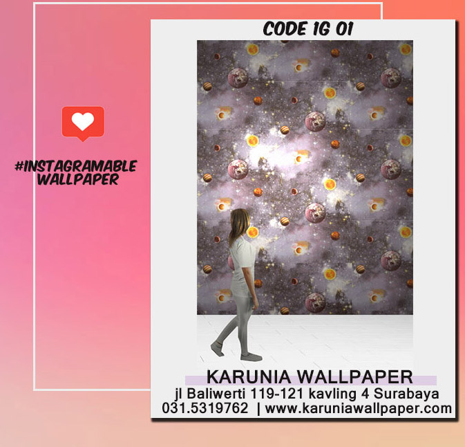 jual dinding wallpaper planet luar angkasa