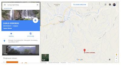 Rute menuju Wisata alam Curug Cigorobog, Sumedang Selatan