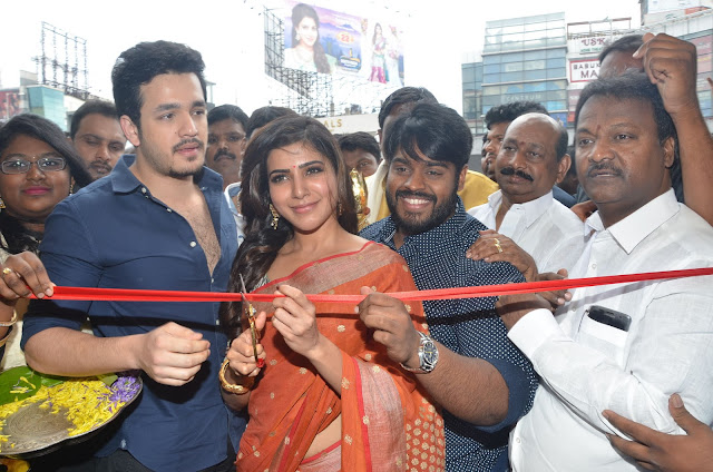 Akhil, Samantha South India Shopping Mall Launch Photos