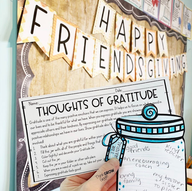 Friendsgiving in the Classroom Display and Activities and Bulletin Board