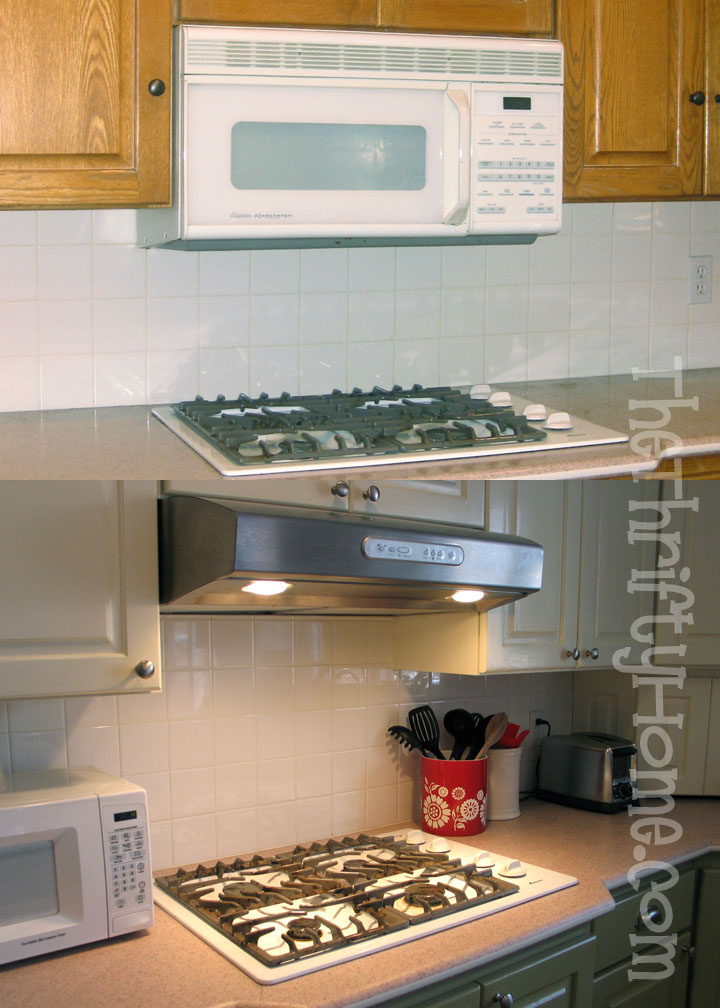 The Thrifty Home Microwave To Hood And A Grout Paint Pen