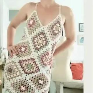 Vestido Granny a Crochet