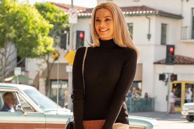 Margot Robbie plays Sharon Tate in a movie still for the 2019 dramatic comedy Once Upon a Time in Hollywood