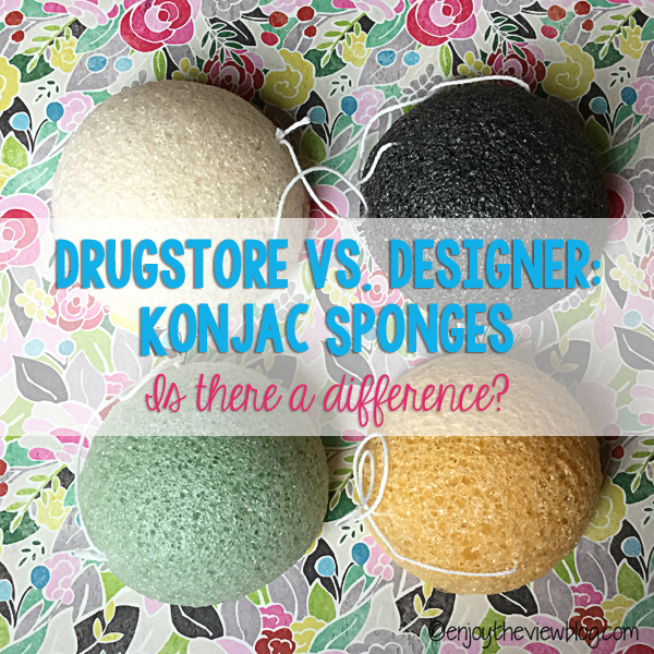 four different colors of konjac sponges